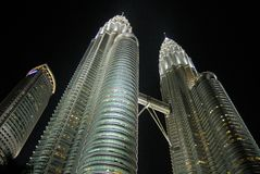 Petronas torn, Kuala Lumpur Fotografering för Bildbyråer