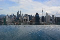Petronas torreggia su Kuala Lumpur Fotografie Stock Libere da Diritti