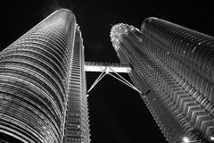 Petronas Tower. View from the bottom of the Petronas Towers Royalty Free Stock Photos
