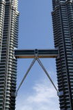Petronas Towers. High above the city of kuala Lumpur in Malesia Royalty Free Stock Photos