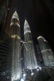 Petronas Towers. Night Shot of Petronas Towers Stock Image