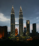 Petronas towers. Kuala lumpur, tallest buildings in malaysia, may 2010 Royalty Free Stock Image