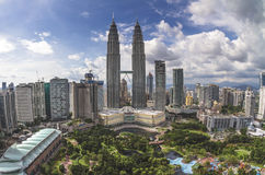 Petronas Towers and office building skyline in asi Royalty Free Stock Photos