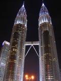 Petronas towers. Petronas twin towers at night in Kuala Lumpur, Malaysia Royalty Free Stock Photos