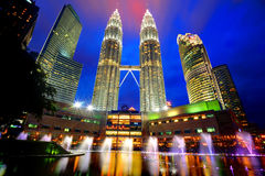 The Petronas Towers Royalty Free Stock Photography