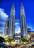 Petronas Towers in HDR Stock Photo