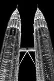 Petronas Towers In The City Kuala Lumpur Royalty Free Stock Images