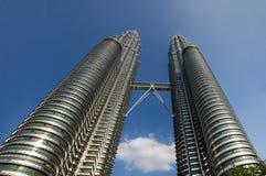 The Petronas Towers in Kuala Lumpur Stock Photos