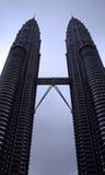 Petronas Towers Kuala Lumpur. The famous Petronas Towers in Kuala Lumpur Stock Image