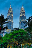 Petronas Towers, Kuala Lumpur. HDR. Royalty Free Stock Photo