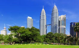 Petronas towers in Kuala Lumpur Royalty Free Stock Images