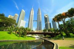 Petronas towers in Kuala Lumpur Stock Images
