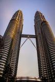 The Petronas Towers, Kuala Lumpur Royalty Free Stock Photography
