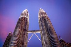 The Petronas Towers, Kuala Lumpur Royalty Free Stock Images