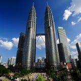 Petronas Towers, Kuala Lumpur, Malaysia. Stock Image
