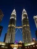 The famous Petronas Towers in Kuala Lumpur Stock Images