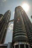 The Petronas Towers in Kuala Lumpur, Malaysia Royalty Free Stock Photos