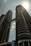 The Petronas Towers in Kuala Lumpur, Malaysia Royalty Free Stock Image