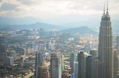 The Petronas Towers in Kuala Lumpur, Malaysia Stock Photos