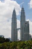 The Petronas Towers in Kuala Lumpur, Malaysia Royalty Free Stock Photography