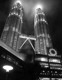 Petronas Towers, Kuala Lumpur at night Royalty Free Stock Photography