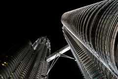 Petronas towers at night Stock Photography
