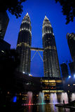 Petronas Towers at night Royalty Free Stock Images