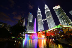 Petronas Towers at Night Royalty Free Stock Photography