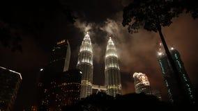 Petronas Towers at night in Kuala Lumpur, Malaysia. stock photography