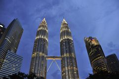 Petronas  Towers by night Stock Photography