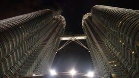 Petronas Towers at night in Kuala Lumpur, Malaysia. stock photos