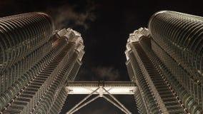 Petronas Towers at night in Kuala Lumpur, Malaysia. royalty free stock photos