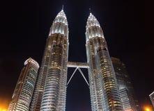 Petronas Towers at night in Kuala Lumpur, Malaysia Royalty Free Stock Photography