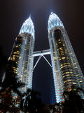 Petronas Towers Night Light Bright Concept Royalty Free Stock Photo