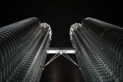 Petronas Towers in nighttime Stock Image