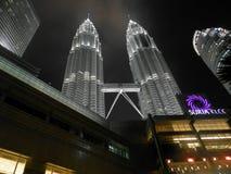 Petronas towers. Picture of Petronas towers in Kuala Lumpur Royalty Free Stock Photo