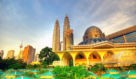 Petronas Towers & Skyline of Kuala Lumpur Royalty Free Stock Images