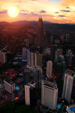Petronas Towers at Sunset Royalty Free Stock Photo