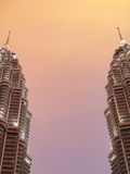 Petronas towers at sunset Stock Photography