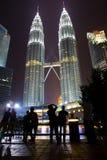 Petronas Towers, Twin Towers of Kuala Lumpur, Mala Royalty Free Stock Photo