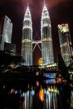 Petronas Towers, Twin Towers of Kuala Lumpur, Mala Stock Images