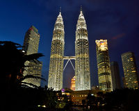 Petronas Towers. Petronas Twin Towers were once the tallest buildings in the world. Now the world's tallest twin structures, the 88-storey buildings were Royalty Free Stock Image