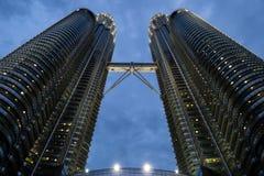 Petronas tvillingbröder royaltyfri fotografi