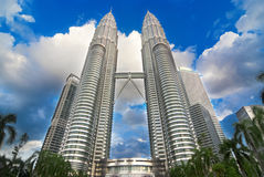 Petronas tvillingbröder Royaltyfria Foton