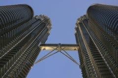 Petronas tvillingbröder, Kuala Lumpur, Malaysia Arkivfoto
