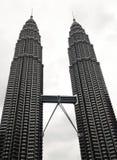 Petronas tvillingbroder Kuala Lumpur Arkivbild