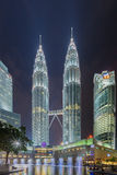 Petronas Tweelingtorens in Kuala Lumpur, Maleisië Royalty-vrije Stock Foto