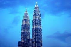 Petronas Tweelingtorens, Maleisië Royalty-vrije Stock Foto