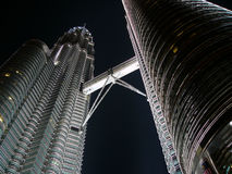 Petronas Twiin Towers at night Royalty Free Stock Photography