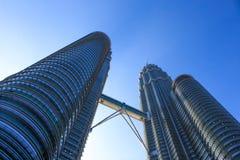 Petronas Twin. The tallest buildings at Kuala Lumpur, Malaysia Royalty Free Stock Photos